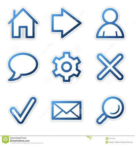 Iconos Del Web Serie Azul Del Contorno Ilustración del