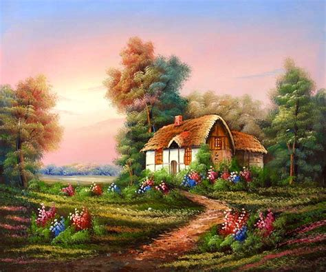 The Cottage Painting by Cottage Painting Http Lomets