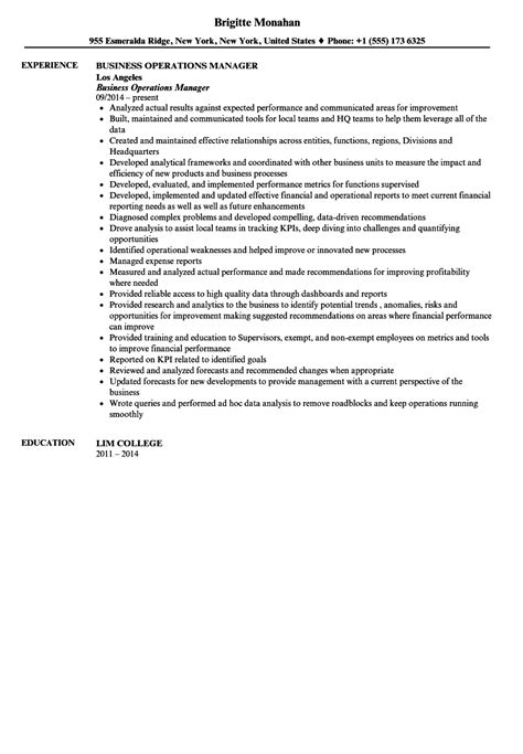 Business Operations Performance Analyst In Denver Co Resume by Business Operations Manager Resume Sle Velvet