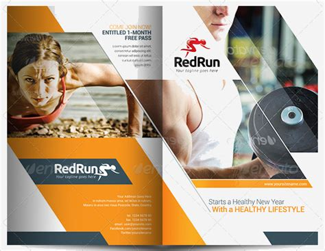 19 Sports Fitness Brochure Templates Free Psd Ai 19 Sports Fitness Brochure Templates Free Psd Ai
