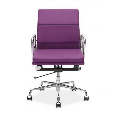 purple desk chair purple eames back soft pad executive office chair