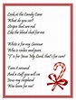 The Legend of the Candy Cane Poem | Candy cane poem, Candy ...