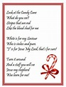 Legend Of The Candy Cane Poem | Christmas poems, Candy ...