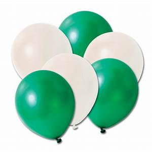 Pack of 20 Green/White Balloons Peeks