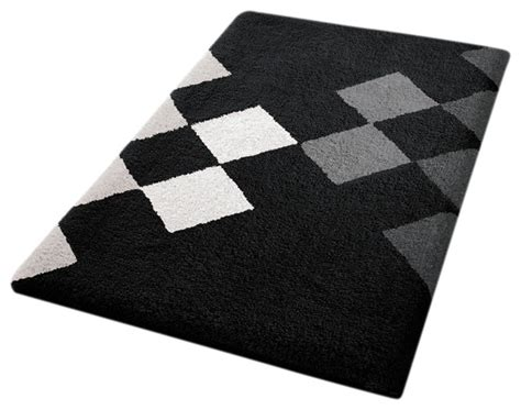 modern bath rug black vita futura black and white bathroom rug altea bath