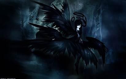 Anime Dark Hair Wings Halo Wallpapersafari