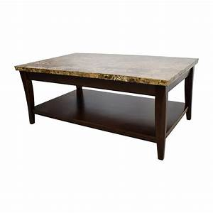 71 off marble and wood coffee table tables With wood coffee table with marble top