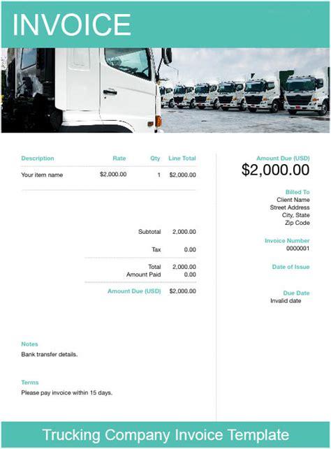 trucking invoice template   invoice creator