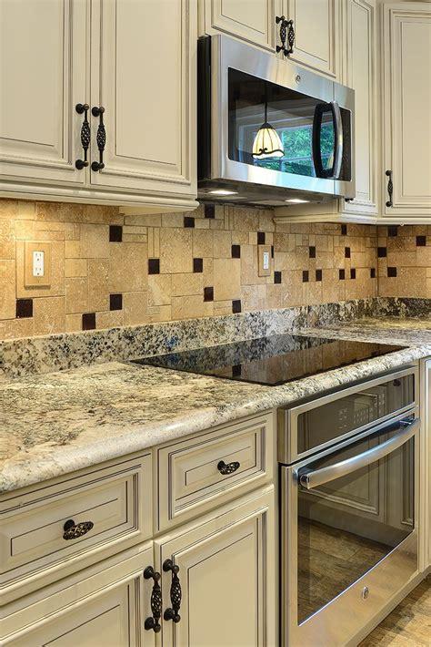 kitchen tiles color combination travertine kitchen backsplash tile with brown glass 6290