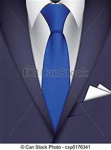 Vector Clip Art of Suit and tie - Suit and blue tie ...