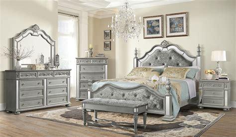 diana poster bedroom set silver global furniture