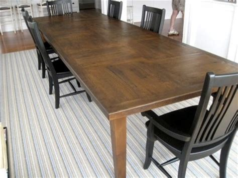 Custom 12'ft Rustic Oak Dining Table In Customer's Home