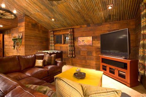 crosswater ski lodge rustic family room portland