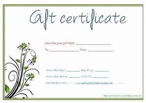 printable gift certificate maker free gift ftempo With make your own gift certificate template free