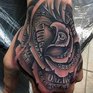 One Hundred Dollar Money Rose Male Hand Tattoos | Tetkó ...