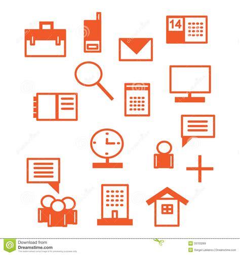 icones de bureau icônes de bureau en illustration de vecteur