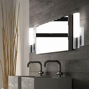 Ip44 Leuchten Badezimmer : badezimmer wand strahler metall verchromt glas opal ~ Michelbontemps.com Haus und Dekorationen