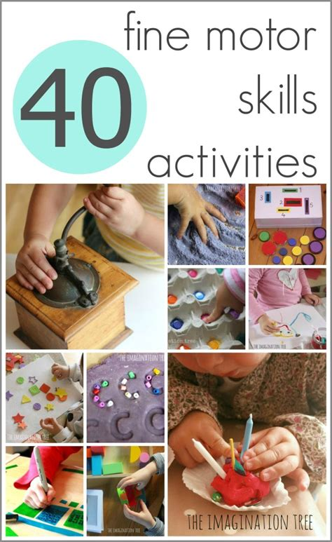 40 motor skills activities the imagination tree 869 | 40 fine motor skills activities for children1 613x1000