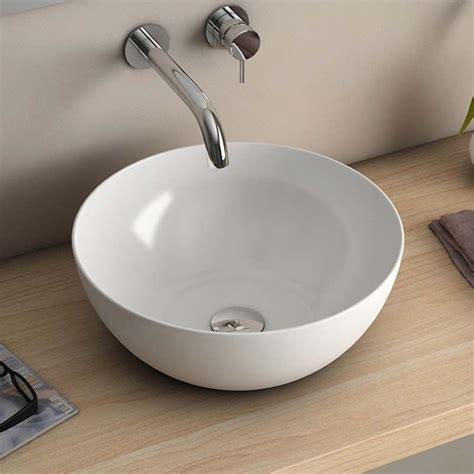 vasque a poser ceramique blanche vasque 224 poser ronde blanche 38 5x38 5 cm c 233 ramique