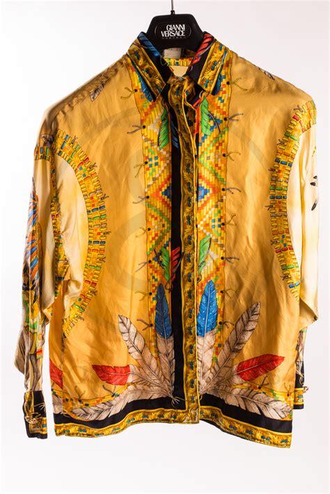 gianni versace silk shirt indian sammy ninos store