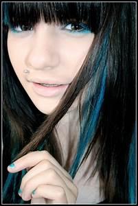 Some Blue Streaks Hair Colors Ideas