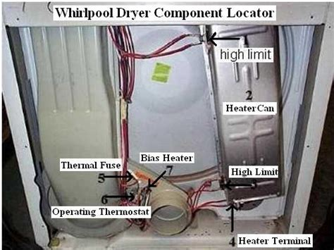 whirlpool dryer  heat repair guide