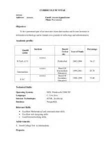 Fresher Resume Sample12 By Babasab Patil