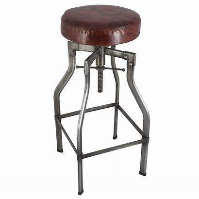 Bar Industrial Stools Leather Awesome Homesfeed Kitchen