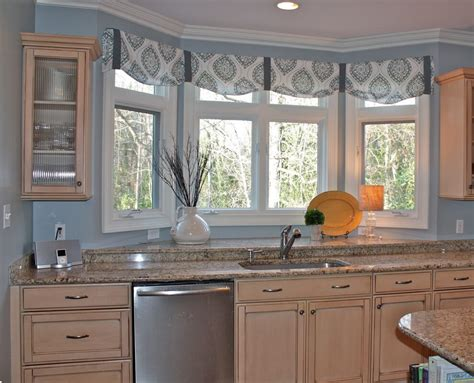 ideas  kitchen bay window treatments theydesign