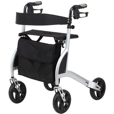 ultra lightweight 4 wheeled rollator walking frame with