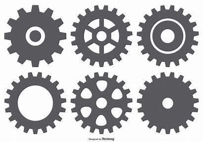 Vector Mechanical Gear Shapes Cog Wheel Clipart