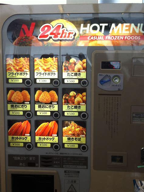 machine cuisine you can get what in a vending machine in aimee
