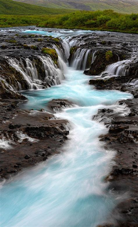 Blue River Bruarfoss Iceland Water And Nature