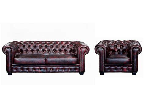 canapes et fauteuils canapé et fauteuil chesterfield 100 cuir de buffle brenton