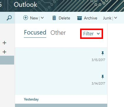 Office 365 Outlook Focused Inbox by Office 365 Outlook On The Web How To Turn Focused
