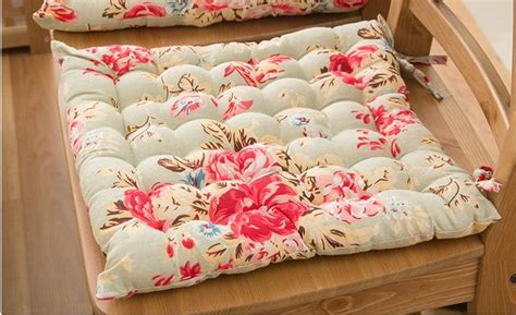shabby chic seat pads country cottage shabby chic floral rose cotton quilted chair seat cushion pad ebay