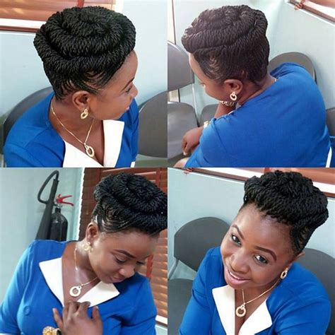 Ladies Try Latest These Ghana Weaving Hairstyles