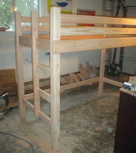loft bed building plans bed plans diy blueprints