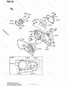 Suzuki Motorcycle 2004 Oem Parts Diagram For Right Engine Cover