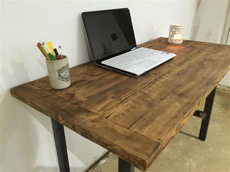 pc tablecomputer deskwriting deskreclaimed wood