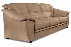 Couch Mit Federkern : 3er sofa mit schlaffunktion braun mit federkern ~ Michelbontemps.com Haus und Dekorationen