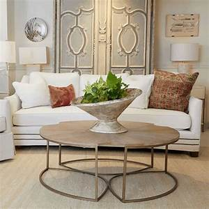 Wood, Gold, Round, Coffee, Table, U2013, Trends, By, Design