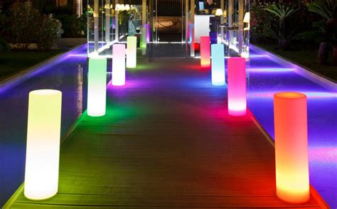 indoor outdoor lighting 160 000 colour cylinder floor