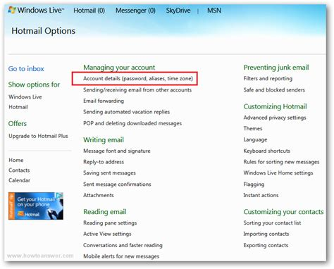 hotmail sign in mobile phone how to add a mobile phone number to a hotmail windows live
