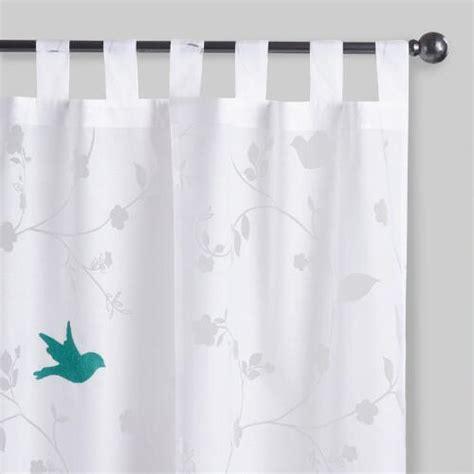 bluebird sheer tab top curtains set of 2 world market