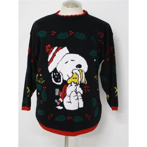snoopy sweater terribly tacky gallery vintage 1980s ugliest