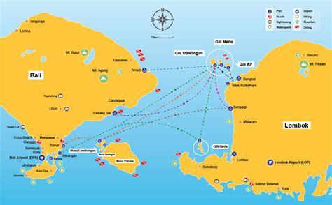 mapa islas gili los viajes de mi maleta