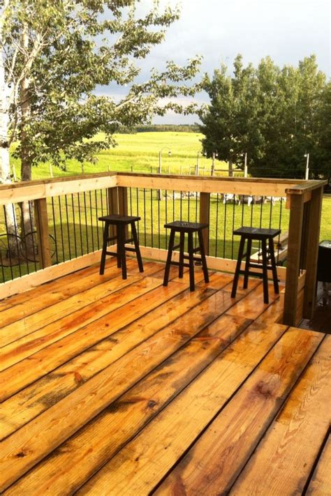 Deck Railing Ideas Wood by Rebar Deck Railing Outside Stuff Pinterest