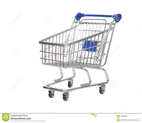 empty shopping cart  sale isolated stock photography