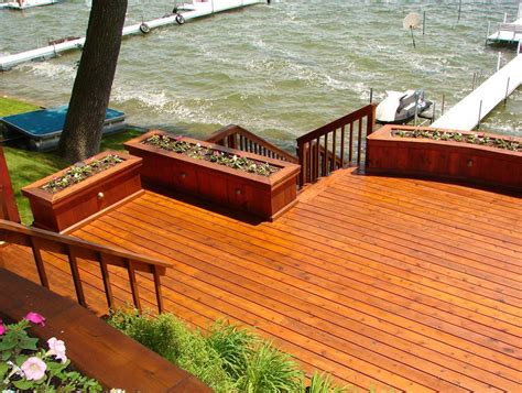 stain  seal  deck home design ideas